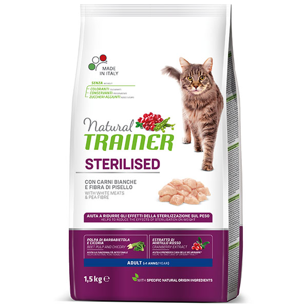Trainer Natural «ADULT STERILISED with WHITE MEAT»
